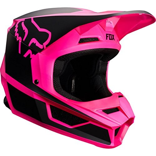 Fox Racing V1 Przm Youth Girls Off-Road Motorcycle Helmet - Black/Pink / Small