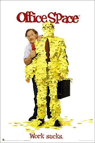 Office Space Work Sucks Workplace Comedy Film Movie Poster Print