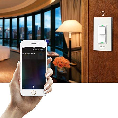 Koogeek Smart 2-Gang WiFi Light Switch by Koogeek (Image #4)