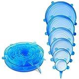 HelpCuisine® Coperchi in Silicone estensibili/Coperchi sottovuoto, Realizzati in Silicone Alimentare Privo di BPA, 6 Misure Diverse Ideali per Coprire pentole, barattoli, scodell ECC