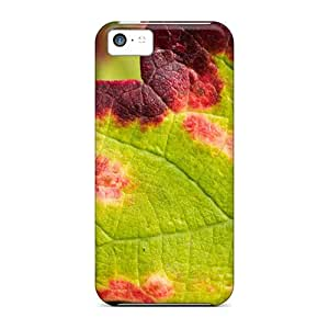 Norelson Design High Quality Nature Grape Leaf Cover Case With Excellent Style For Iphone 5c