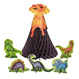 Dinosaur & Volcano Centerpiece Decoration, 6pc