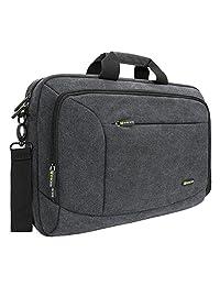 """15.6 inch Laptop Messenger Case, Evecase 15.6"""" Canvas Shoulder Bag - Dark Grey w/Handles, Shoulder Strap for laptops, Samsung ultrabooks, Apple Macbook, Microsoft Sony Acer Asus Chromebook tablet PC"""