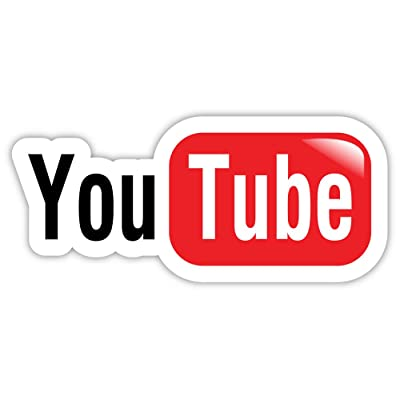"YouTube You Tube sticker decal 6"" x 3"": Automotive"