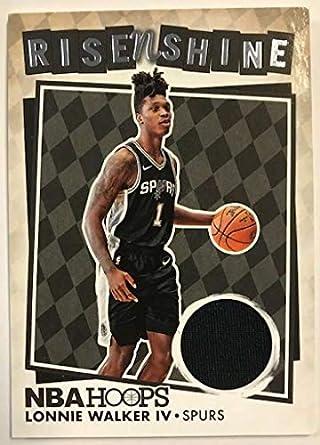 2018-19 Panini Hoops Rise N Shine Memorabilia Basketball Card  18 Lonnie  Walker IV 6521a0cb3