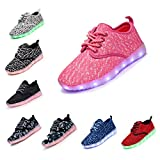 DENATER Boys & Girls & Kids & Toddlers LED Light Up Shoes Flashing Sneakers