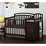 Espresso Crib and Changing Table Combo Dream On Me Casco 4 in 1 Mini Crib and Dressing Table Combo Espresso