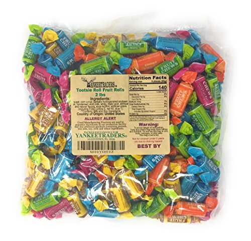 Tootsie Fruit Rolls Assorted Flavors, 2 Lbs by YANKEETRADERS (Image #1)