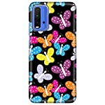 Amazon Brand – Solimo Designer Butterfly Pattern Design 3D Printed Hard Back Case Mobile Cover for Xiaomi Redmi 9 Power