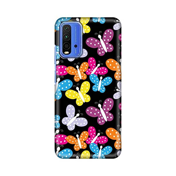 Amazon Brand - Solimo Designer Butterfly Pattern Design 3D Printed Hard Back Case Mobile Cover for Xiaomi Redmi 9 Power 2021 July Snug fit for Mobile, with perfect cut-outs for volume buttons, audio and charging ports Compatible with Xiaomi Redmi 9 Power Easy to put & take off with perfect cutouts for volume buttons, audio & charging ports