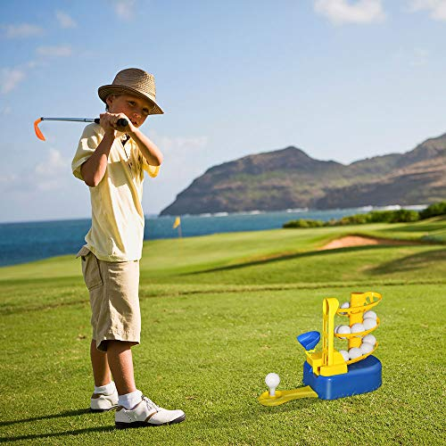 Outdoor Toys for Toddlers Age 3-5, Kids Golf Clubs Set 3-8 Golf Toys for Toddlers Boys Kids Outdoor Toys Ages 3-8 and Up Sports Outdoor Games for Boys Kids Gifts for 3-8 Year Old Boys Blue DMGF1