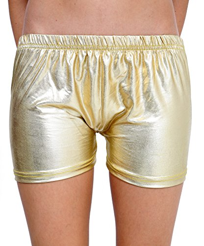 Bless Womens Metallic Wet Look Hot Pants Shorts Shiny Womens RED Blue Halloween Summer Fancy Party Disco