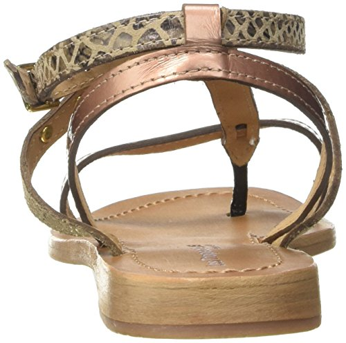 De bronze Belarbi Con Para Multi M Baie Tobillo Tropéziennes Dorado Correa Par Mujer Les Sandalias OnR8HxY
