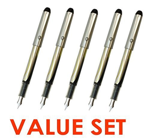 Pilot V Pen (Varsity) Disposable Fountain Pens, Black Ink, Small Point Value Set of 5(With Our Shop Original Product Description)
