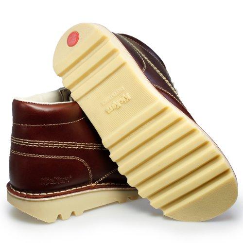 Kickers Kick Hi M Lace-Up Rot Leder Ankle Boots-UK 7