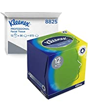 Kleenex 8825 cosmeticatoeken in blokjesbox, 3-laags, 12 dozen x 56 doeken, wit