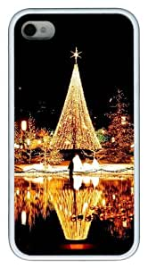 funny iphone 4 cases Christmas Nights TPU White for Apple iPhone 4/4S by Maris's Diary