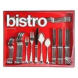 Flatware Set-Gourmet Settings Bistro 60-Pc-Service for-12 w 25 year warranty
