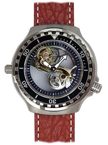 (XL Size Automatic Movement Watch Skeleton Diver Sapphire Glass T0310B)
