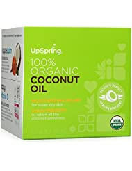 UpSpring 100% Pure Virgin Organic Coconut Oil for Skin Hair and Nails
