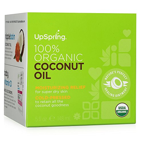 Organic Coconut Skin Cream - UpSpring 100% Pure Virgin Organic Coconut Oil for Skin Hair and Nails