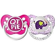Ulubulu Lots of Love Pacifiers - QT Pie & Elephant - 2 pk - 00