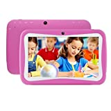 Tablet PC, 7'' Tablet Android 5.1 Quad Core HD 1024x600, Dual Camera Blue-Tooth Wi-Fi, 8GB 3D Game Supported (Hot Pink)