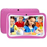 Tablet PC, 7 Tablet Android 5.1 Quad Core HD 1024x600, Dual Camera Blue-Tooth Wi-Fi, 8GB 3D Game Supported (Hot Pink)