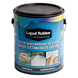 Liquid Rubber Color Waterproof Sealant/Coating (1 Gallon, Light Gray) - Environmentally Friendly - Water Based - No Solvents, VOC's or Harmful Odors - Easy to Apply - No Mixing - TOP SELLER