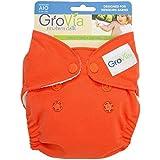 GroVia All In One Cloth Diaper - Persimmon - Newborn - Snap