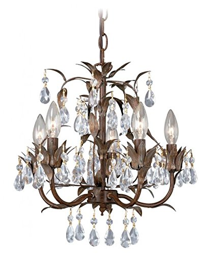 Vaxcel mn chu014hp 5light with crystal drops chandelier mini 1575 vaxcel mn chu014hp 5light with crystal drops chandelier mini 1575quot x 1575quot aloadofball Gallery