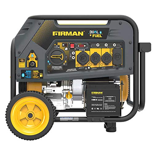 Firman Power Dual Fuel Generator 7500 Running Watts For Sale