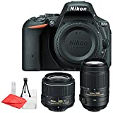 Nikon D5500 SLR Digital Camera with Nikon 18-55mm Lens & Nikon AF-S DX NIKKOR 55-300mm f/4.5-5.6G ED VR Lens For Sale