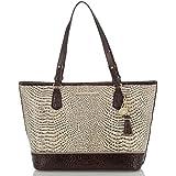 Brahmin Medium Asher Creme Rhodes Emb Leather Bag