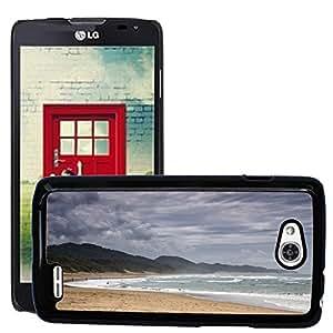 Super Stella Slim PC Hard Case Cover Skin Armor Shell Protection // M00421629 Beach Coast Shore Water Ocean Sea // LG Optimus L90 D415