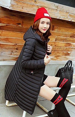 Coat Down Casual Black Womens Coat Hooded Thicken Overcoat Bigood Ladies 7qtZWaO