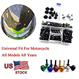 For Yamaha YZFR125 YZF R125 2008-2015 Complete Fairing Bolt Screws Kit Fasteners Black M5 M6