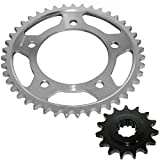 Caltric Front & Rear Sprockets Kit Fits HONDA CBR600F2 CBR-600F2 Super Sport 600F2 1991-1994