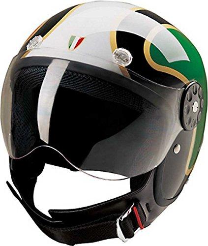 - HCI Open Face Fiberglass Motorcycle Helmet - Italian Flag - 15-670 (2XL)