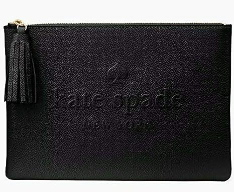 Kate Spade Larchmont Avenue Logo Gia Beauty Cosmetic Bag Black