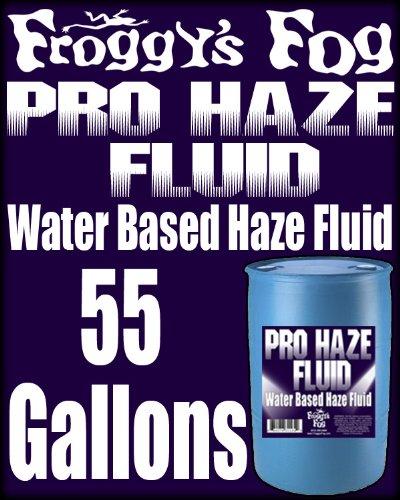 (Froggys Fog - High-Performance Haze Fluid for Hurricane Haze 2 & Fog Machines - Pro Haze Juice - Water Based Haze Fluid - 55 Gallon Drum)