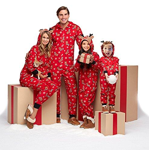 Family Matching Christmas Pajamas Set Sleepwear Jumpsuit Hoodie