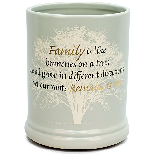 Elanze Designs Family Tree Ceramic Stoneware Electric Large Jar Candle Warmer -