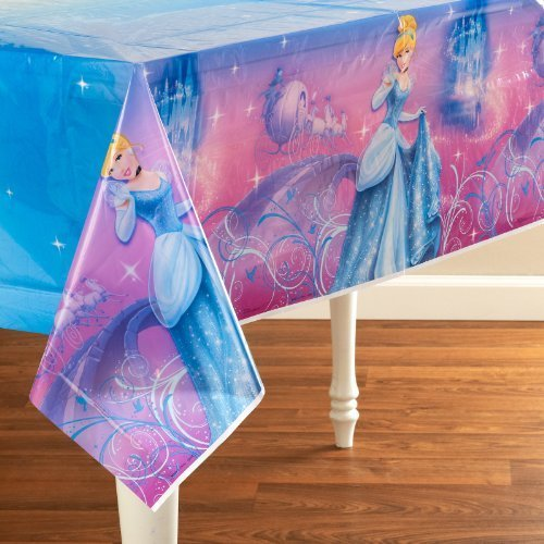 Hallmark Cinderella Sparkle Tablecover (1 per package) by Hallmark