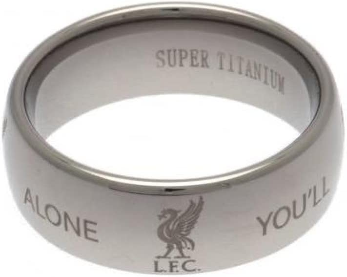 Liverpool FC Official Football Gift Super Titanium Ring A Great Christmas Birthday Gift Idea For Men And Boys Medium