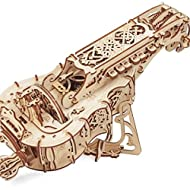 UGears Mechanical Models 3-D Wooden Puzzle - Mechanical Hurdy-Gurdy Musical Instrument