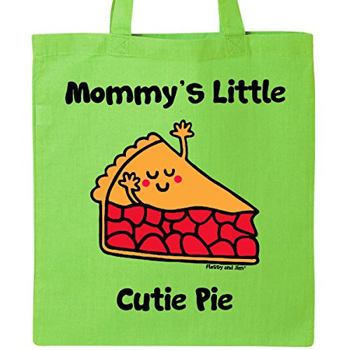 Inktastic - Mommy's little Cutie Pie Tote Bag Lime Green - Flossy And Jim