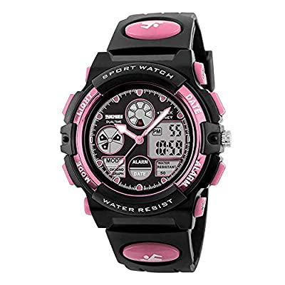 Kids Digital Sport Watch, Boys Girls Waterproof Sports Outdoor Watches Children Casual Electronic Analog Quartz Wrist…