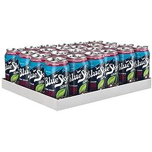 amazon com blue sky cane sugar soda black cherry 12