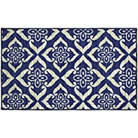 Structures Catarina Textured Printed Accent Rug, Blue/Beige 18 x 30